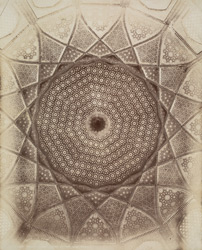 Tatta, Karachi District, Sindh. Interior of dome of Jami Masjid